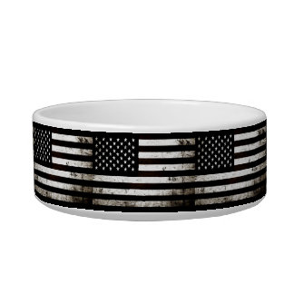 Schwarze Schmutz-amerikanische Flagge 2 Napf