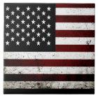 Schwarze Schmutz-amerikanische Flagge Fliese