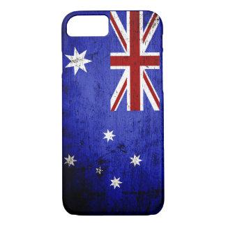 Schwarze Schmutz-Australien-Flagge iPhone 8/7 Hülle