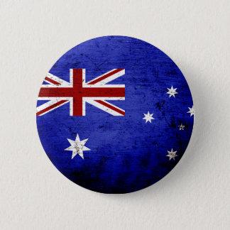 Schwarze Schmutz-Australien-Flagge Runder Button 5,7 Cm