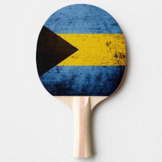 Schwarze Schmutz-Bahamas-Flagge Tischtennis Schläger