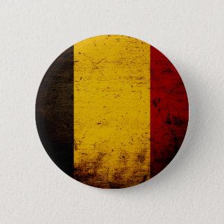 Schwarze Schmutz-Belgien-Flagge Runder Button 5,7 Cm