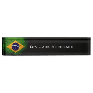 Schwarze Schmutz-Brasilien-Flagge