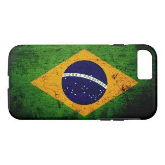 Schwarze Schmutz-Brasilien-Flagge iPhone 8/7 Hülle