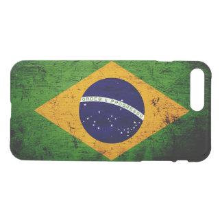 Schwarze Schmutz-Brasilien-Flagge iPhone 8 Plus/7 Plus Hülle