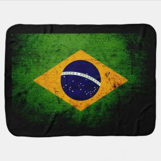 Schwarze Schmutz-Brasilien-Flagge Kinderwagendecke