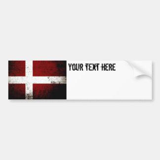Schwarze Schmutz-Dänemark-Flagge Autoaufkleber