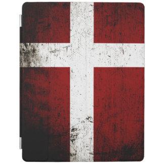 Schwarze Schmutz-Dänemark-Flagge iPad Hülle