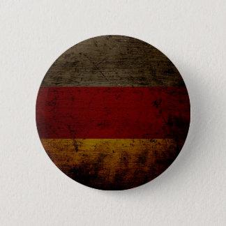 Schwarze Schmutz-Deutschland-Flagge 2 Runder Button 5,1 Cm