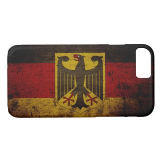 Schwarze Schmutz-Deutschland-Flagge iPhone 8/7 Hülle