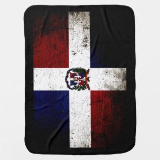 Schwarze Schmutz-Dominikanische Republik-Flagge Kinderwagendecke