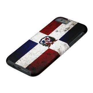 Schwarze Schmutz-Dominikanische Republik-Flagge Tough iPhone 6 Hülle