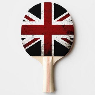Schwarze Schmutz-England-Flagge 3 Tischtennis Schläger