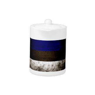 Schwarze Schmutz-Estland-Flagge