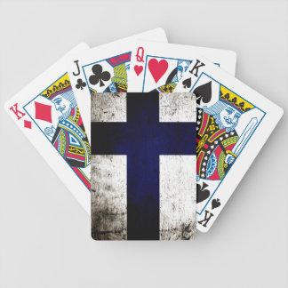 Schwarze Schmutz-Finnland-Flagge Bicycle Spielkarten