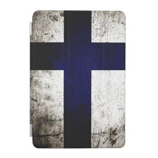 Schwarze Schmutz-Finnland-Flagge iPad Mini Hülle