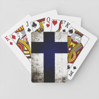Schwarze Schmutz-Finnland-Flagge Spielkarten