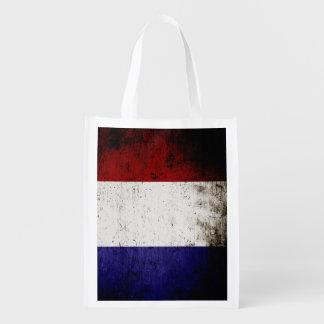 Schwarze Schmutz-Frankreich-Flagge Tragetasche