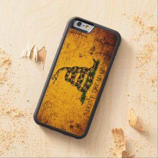 Schwarze Schmutz-Gadsden-Flagge Bumper iPhone 6 Hülle Ahorn