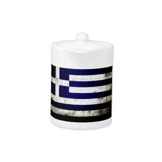 Schwarze Schmutz-Griechenland-Flagge