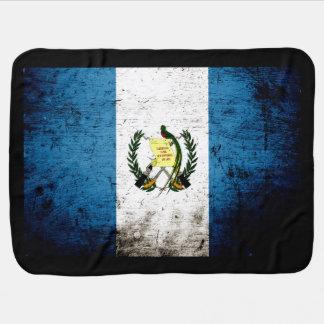 Schwarze Schmutz-Guatemala-Flagge Babydecke