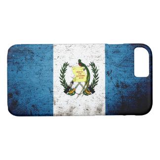 Schwarze Schmutz-Guatemala-Flagge iPhone 8/7 Hülle