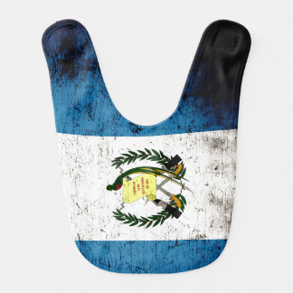 Schwarze Schmutz-Guatemala-Flagge Lätzchen