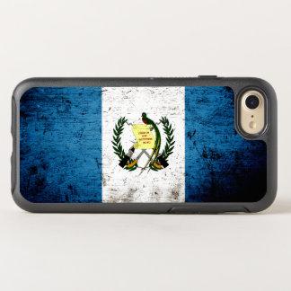 Schwarze Schmutz-Guatemala-Flagge OtterBox Symmetry iPhone 8/7 Hülle