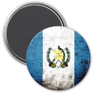 Schwarze Schmutz-Guatemala-Flagge Runder Magnet 7,6 Cm