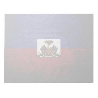Schwarze Schmutz-Haiti-Flagge Notizblock