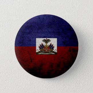 Schwarze Schmutz-Haiti-Flagge Runder Button 5,7 Cm