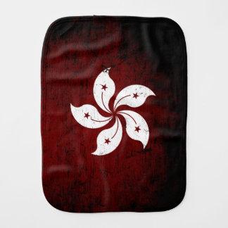 Schwarze Schmutz-Hong Kong-Flagge Baby Spucktuch