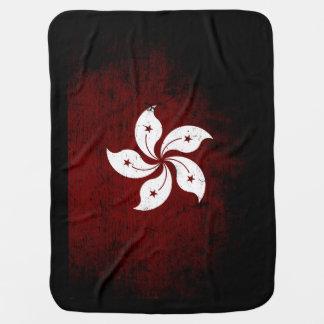 Schwarze Schmutz-Hong Kong-Flagge Babydecke
