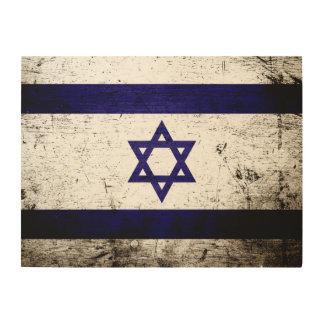Schwarze Schmutz-Israel-Flagge Holzwanddeko
