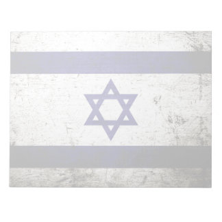 Schwarze Schmutz-Israel-Flagge Notizblock