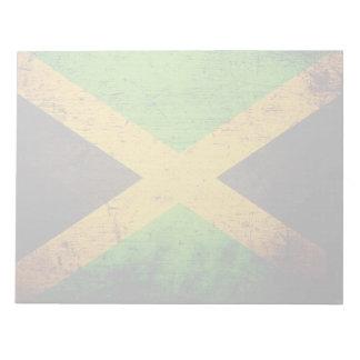 Schwarze Schmutz-Jamaika-Flagge Notizblock