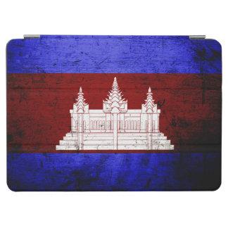 Schwarze Schmutz-Kambodscha-Flagge iPad Air Cover
