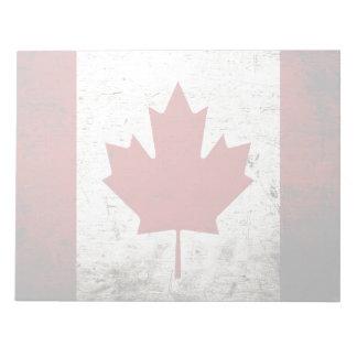Schwarze Schmutz-Kanada-Flagge Notizblock
