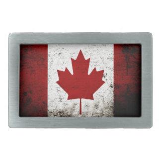 Schwarze Schmutz-Kanada-Flagge Rechteckige Gürtelschnallen