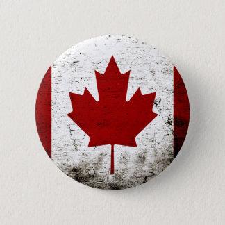Schwarze Schmutz-Kanada-Flagge Runder Button 5,1 Cm