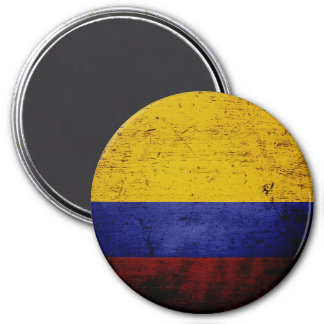 Schwarze Schmutz-Kolumbien-Flagge Runder Magnet 7,6 Cm