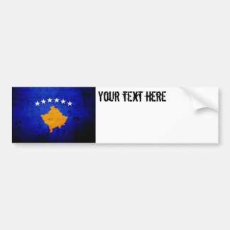 Schwarze Schmutz-Kosovo-Flagge Autoaufkleber