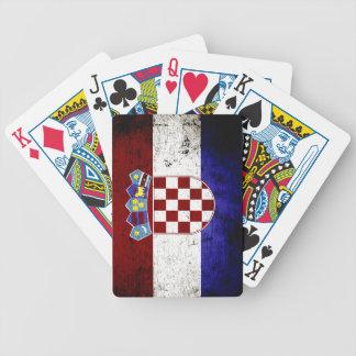 Schwarze Schmutz-Kroatien-Flagge Bicycle Spielkarten
