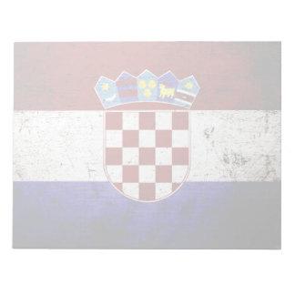 Schwarze Schmutz-Kroatien-Flagge Notizblock