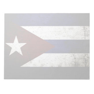 Schwarze Schmutz-Kuba-Flagge Notizblock