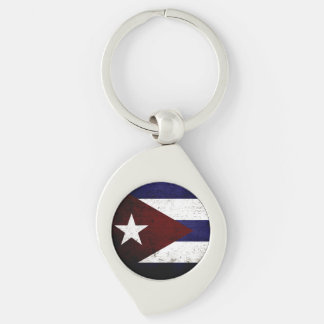 Schwarze Schmutz-Kuba-Flagge Schlüsselanhänger