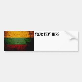 Schwarze Schmutz-Litauen-Flagge Autoaufkleber