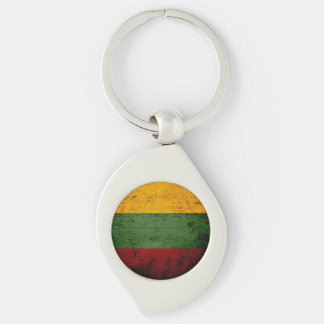 Schwarze Schmutz-Litauen-Flagge Schlüsselanhänger