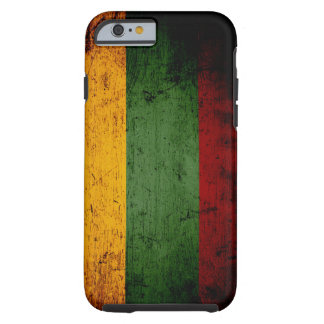 Schwarze Schmutz-Litauen-Flagge Tough iPhone 6 Hülle