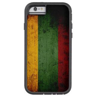 Schwarze Schmutz-Litauen-Flagge Tough Xtreme iPhone 6 Hülle